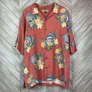 Men's Tommy Bahama pineapple textured silk shirt